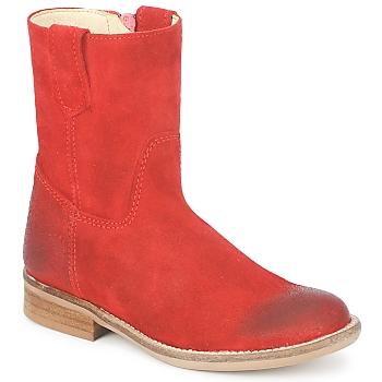 Čevlji  Deklice Polškornji Hip DIRAN Rdeča