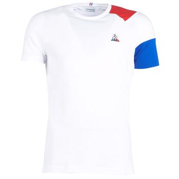 Oblačila Moški Majice s kratkimi rokavi Le Coq Sportif ESS Tee SS N°10 M Bela / Rdeča / Modra