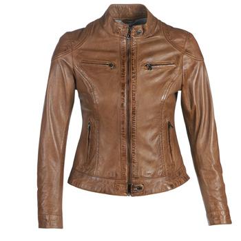 Oblačila Ženske Usnjene jakne & Sintetične jakne Oakwood LINA Cognac