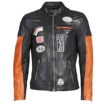 Oblačila Moški Usnjene jakne & Sintetične jakne Oakwood INDIE Črna / Oranžna