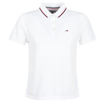 Oblačila Ženske Polo majice kratki rokavi Tommy Jeans TJW TOMMY CLASSICS POLO Bela