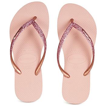 Čevlji  Ženske Japonke Havaianas SLIM GLITTER Rožnata