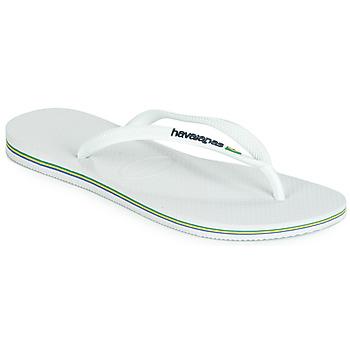 Čevlji  Ženske Japonke Havaianas SLIM BRASIL LOGO White