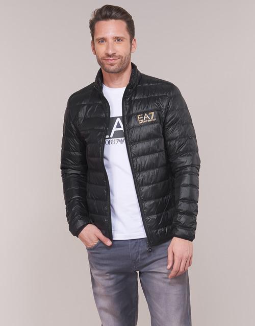 Oblačila Moški Puhovke Emporio Armani EA7 TRAIN CORE ID DOWN LT Črna / Pozlačena