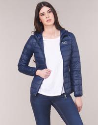 Oblačila Ženske Puhovke Emporio Armani EA7 TRAIN CORE LADY LT DOWN JACKET Modra