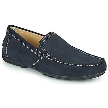 Čevlji  Moški Mokasini Geox MONET Modra