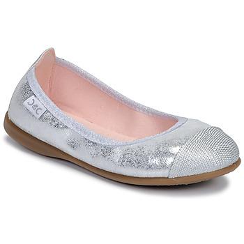Čevlji  Deklice Balerinke Citrouille et Compagnie JARAMIL Srebrna