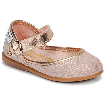 Čevlji  Deklice Balerinke Citrouille et Compagnie JARITO Rožnata / Bronze
