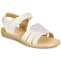 Čevlji  Deklice Sandali & Odprti čevlji Citrouille et Compagnie JAFILOUTE Bela