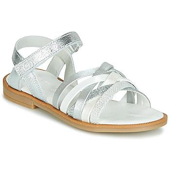 Čevlji  Deklice Sandali & Odprti čevlji Citrouille et Compagnie JARILOU Srebrna
