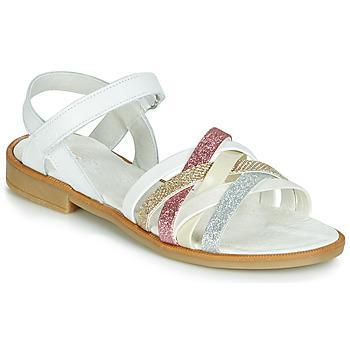 Čevlji  Deklice Sandali & Odprti čevlji Citrouille et Compagnie JARILOU Bela