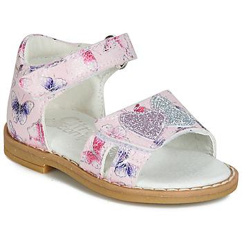 Čevlji  Deklice Sandali & Odprti čevlji Citrouille et Compagnie JARILOUTE Rožnata