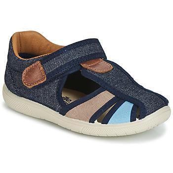 Čevlji  Dečki Sandali & Odprti čevlji Citrouille et Compagnie JOLIETTE Modra / Bež