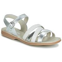 Čevlji  Deklice Sandali & Odprti čevlji Citrouille et Compagnie JAGUINOIX Siva / Srebrna