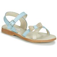 Čevlji  Deklice Sandali & Odprti čevlji Citrouille et Compagnie JISCOTTE Modra / Svetla