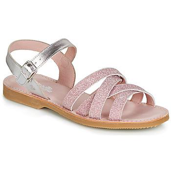 Čevlji  Deklice Sandali & Odprti čevlji Citrouille et Compagnie JARDINA Rožnata