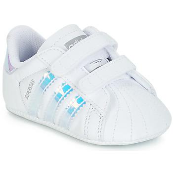 Čevlji  Deklice Nizke superge adidas Originals SUPERSTAR CRIB Bela