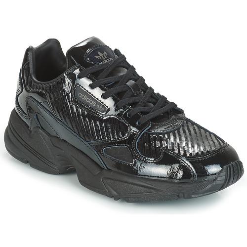 Čevlji  Ženske Nizke superge adidas Originals FALCON W Črna / Bleščeča