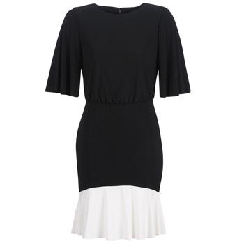Oblačila Ženske Kratke obleke Lauren Ralph Lauren ELBOW SLEEVE DAY DRESS Črna / Bela