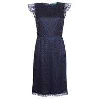 Oblačila Ženske Kratke obleke Lauren Ralph Lauren LACE CAP SLEEVE DRESS Modra