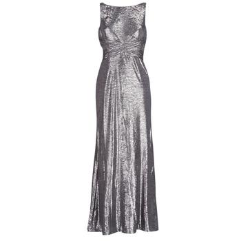 Oblačila Ženske Dolge obleke Lauren Ralph Lauren SLEEVELESS EVENING DRESS GUNMETAL Siva / Srebrna