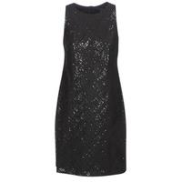 Oblačila Ženske Kratke obleke Lauren Ralph Lauren SEQUINED SLEEVELESS DRESS Črna