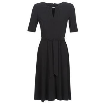 Oblačila Ženske Kratke obleke Lauren Ralph Lauren 3/4 SLEEVE  JERSEY DAY DRESS Črna