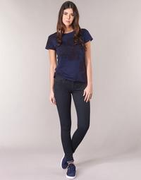 Oblačila Ženske Jeans skinny G-Star Raw LYNN D-MID SUPER SKINNY Modra / Rinsed