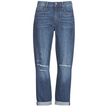 Oblačila Ženske Jeans boyfriend G-Star Raw 3302 SADDLE MID BOYFRIEND Modra / Sepraná /  ripped