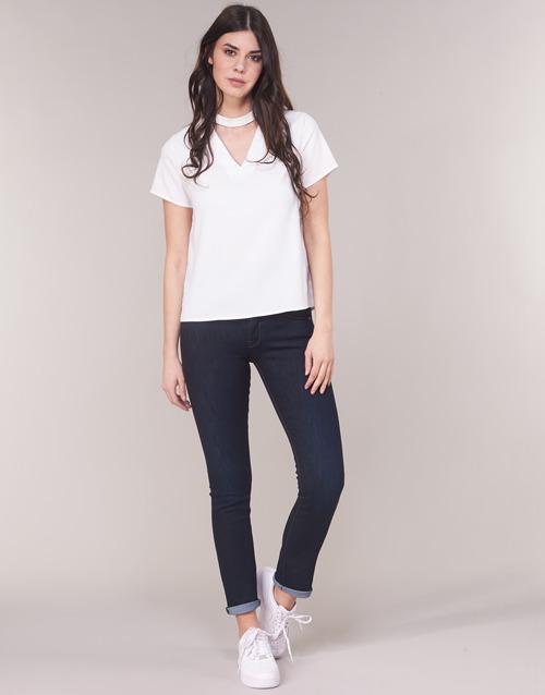 Oblačila Ženske Jeans straight G-Star Raw MIDGE SADDLE MID STRAIGHT Modra / Tmavá / Vintage