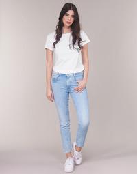 Oblačila Ženske Jeans straight G-Star Raw RADAR MID BOYFRIEND TAPERED Modra / Svetla / Vintage