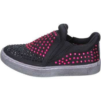 Čevlji  Deklice Slips on Lulu Spodrsniti Na BT332 Črna