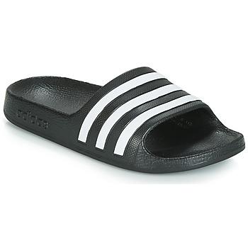 Čevlji  Otroci Natikači adidas Performance ADILETTE AQUA K Črna / Bela