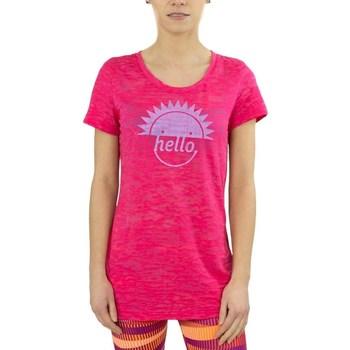 Oblačila Ženske Majice s kratkimi rokavi Reebok Sport RH Burnout Tshirt Roza