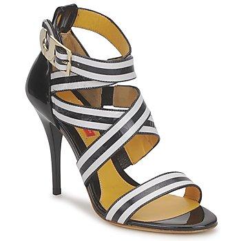 Čevlji  Ženske Sandali & Odprti čevlji Charles Jourdan BARBARA Črna / Bela