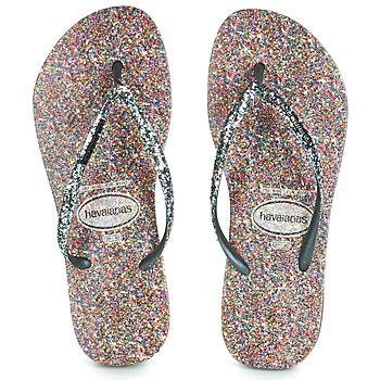 Čevlji  Ženske Japonke Havaianas SLIM CARNAVAL Črna