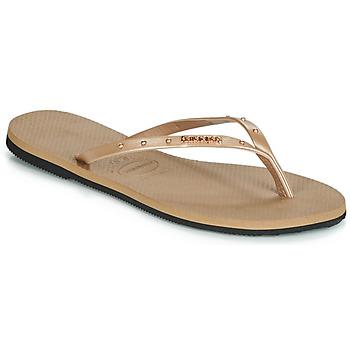 Čevlji  Ženske Japonke Havaianas YOU MAXI Rožnata / Zlata