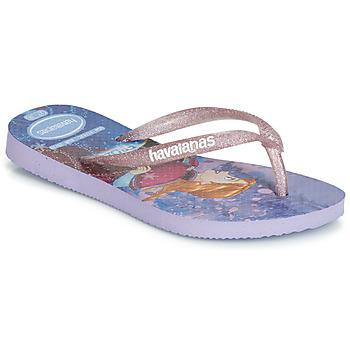 Čevlji  Deklice Japonke Havaianas KIDS SLIM FROZEN Vijolična