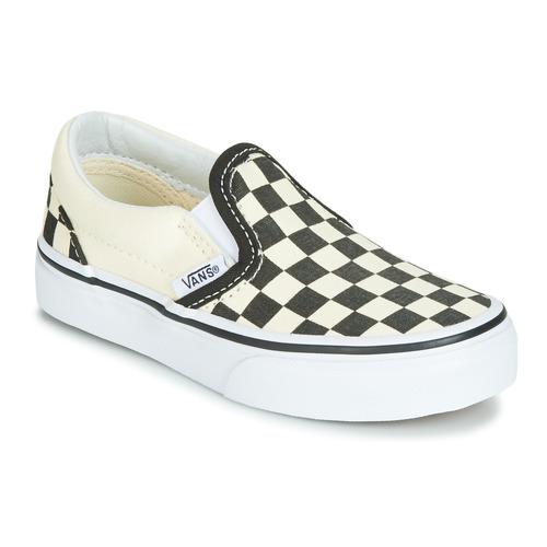 Čevlji  Otroci Slips on Vans CLASSIC SLIP-ON Črna / Bela