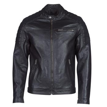 Oblačila Moški Usnjene jakne & Sintetične jakne Jack & Jones JCOROCKY Črna