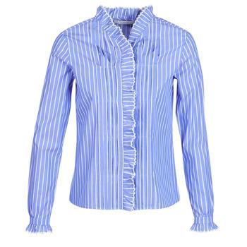 Oblačila Ženske Srajce & Bluze Maison Scotch LONG SLEEVES SHIRT Modra / Svetla