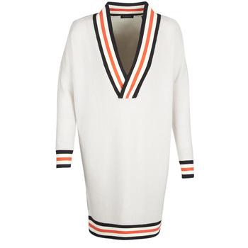 Oblačila Ženske Puloverji Maison Scotch WHITE LONG SLEEVES Bela / Krem