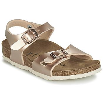 Čevlji  Deklice Sandali & Odprti čevlji Birkenstock RIO Zlata