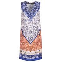 Oblačila Ženske Kratke obleke Derhy FORTERESSE Bela / Modra / Oranžna