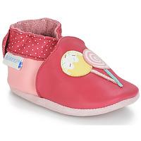 Čevlji  Deklice Nogavice za dojenčke Robeez FUNNY SWEETS Rožnata / Bela