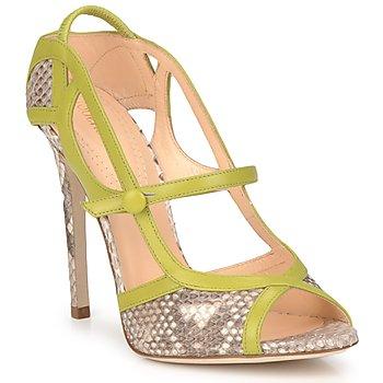 Čevlji  Ženske Sandali & Odprti čevlji Roberto Cavalli RPS678 Piton / Zelena