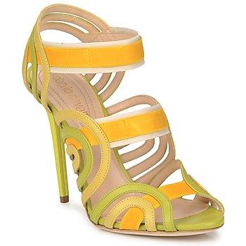 Čevlji  Ženske Sandali & Odprti čevlji Roberto Cavalli RPS691 Zelena / Rumena