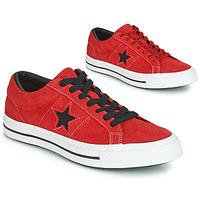 Čevlji  Moški Nizke superge Converse ONE STAR DARK STAR VINTAGE SUEDE OX Rdeča