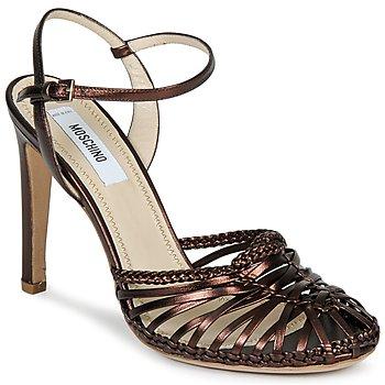 Čevlji  Ženske Sandali & Odprti čevlji Moschino MA1603 Eben Črna