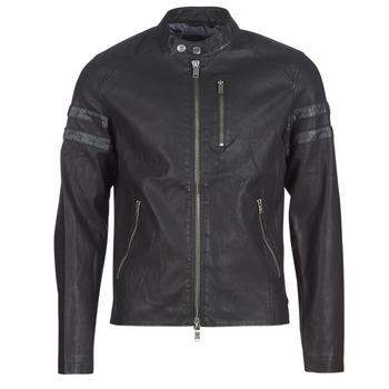 Oblačila Moški Usnjene jakne & Sintetične jakne Guess COOL BIKER Črna